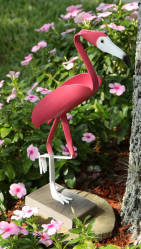"--RETIRED--Small Flamingo Bird Sculpture <br> Approx 16"" tall"