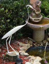 --RETIRED--Great White Egret with Plummage Sculpture