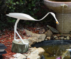 --RETIRED--Large Egret with Fish in Beak <br> approx 20""