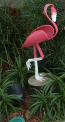 "--RETIRED--Large ""Girl"" Flamingo Sculpture<br> Approx 35"" tall"